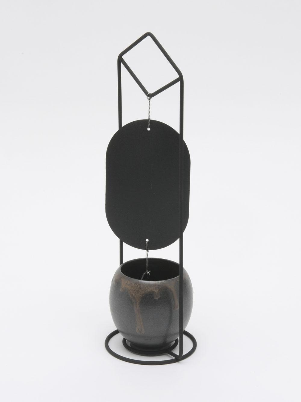 京焼・清水焼 置型風鈴「涼の音」黒銹
